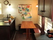 Kitchen nook: A great place for eating and visiting!