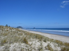 View from path up to Mount Maunganui