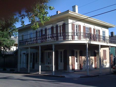 Creole Townhouse: Corner Stores were very common in our neighborhood.  The first record of a store in our home was 1881