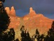 Taken from the home's patio: Steamboat and Shiprock formations at sunset, taken from the patio.