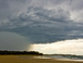 Summer Storm: A storm rolling in above Sandy Beach
