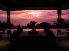 Sunset from your open living room