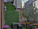 Garden in Back with Views!!: Back terrace view of the Empire State Building - magnificent at night!!