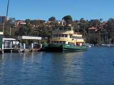 The ferry at Mosman Bay Wharf