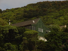 House is halfway up Wright's Hill on the Karori side