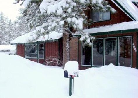 Cabin in Winter: Cabin during winter