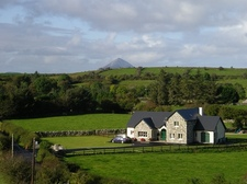 House with Croagh Patrick in the background