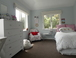Girls upstairs room with king single bed and trundler