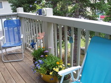 sunny south facing deck