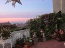 back patio at sunset