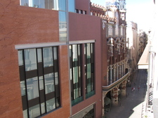 View from the balcony to the Palau de la Msica