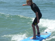 Our son surfing at a local beach!