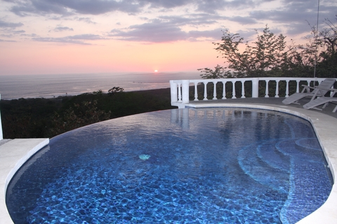 Infinity Edge Pool at sunset