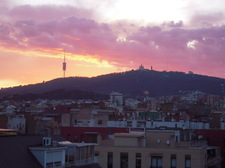 View from Gràcia to Tibidabo mountain