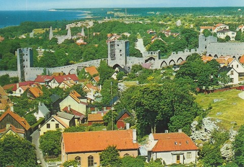 Visby city: The famous city Visby listed by UNESCO as a World Heritage Site.