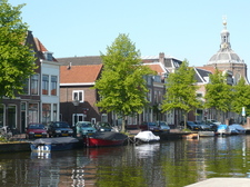 Our (white) house on the canal in Leiden