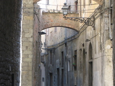 A Street in the Historic Center of Pistoia
