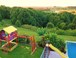 Cubbyhouse / Swing set and pool slide