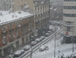 Winter street scene: view from the apartment: Jan 2010