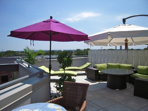 Million-dollar view: Our rooftop terrace is like having your own private resort! You can eat breakfast out here ... relax with a drink at the end of the day .. sunbathe ... just relax!