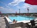 Rooftop pool: The pool is just one floor above us, which you can access via the stairway or the elevator. It's open during the summer months and the hot tub/jacuzzi (far end of the pool) is open year-round.