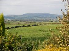 View fro rear garden over Pendle hill