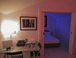 Living room table and bedroom with livingcolour lights