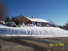 Gilford home in winter