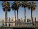 Shot of San Diego skyline from Coronado ferry landing