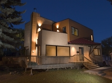 Our Home - Front view at night