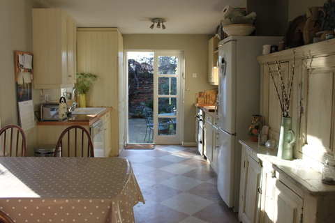 Kitchen opens onto garden