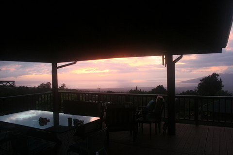 Maui No Ka Oi: Enjoy dinner grilled on the deck while watching the sun sink over the Pacific.