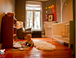The nursery: Definitely set up for kids. Crib, high chair, lots of toys. 