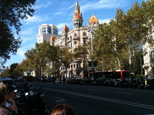 At the end of my street Passeig de Gracia (10 min walking)