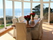 Dining area for 8 with views of the bay