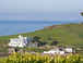 View from our garden of Burgh Island, the famous hotel and the 700 year old smuggling inn.