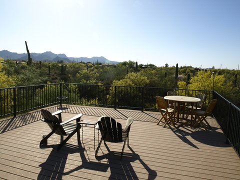 Back deck: Beautiful sunset views over the the Tucson Mountains.