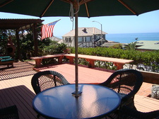 Front deck with view of the Pacific