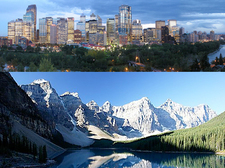 Calgary and Lake Moraine