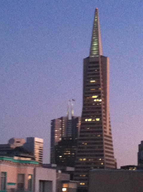 Transamerica Pyramid: view from our rooftop