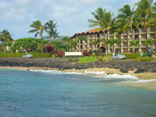 View of Alii Building at Lawai Beach Resort
