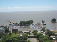 View of the River Plate from window