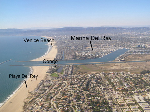 Condo location, just south of Marina del Rey.