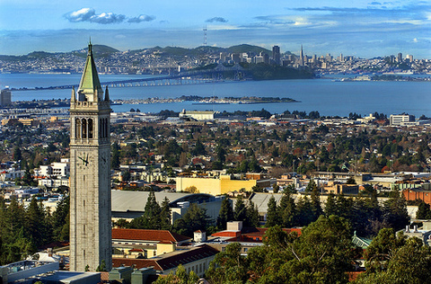 Beautiful and historic Berkeley, across the water from San Francisco