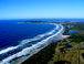 aerial viewof byron bay from friends helicopter