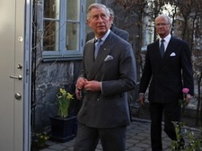 Prince Charles and the Swedish King visiting our house in March 2012.