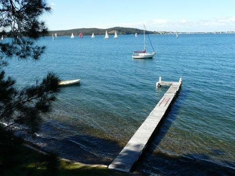 Jetty and Waterfront: The Lake is refreshingly clear and clean. Delightful for a swim on a hot summer's day.