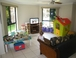 Living Room: The toys are now a bit different, but you get the idea!  Flat screen tv can wifi movies/tv shows/audio also - same as Lounge room set up