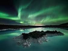 northen lights and lava