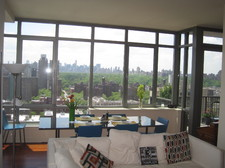 Living room, looking south to Central Park